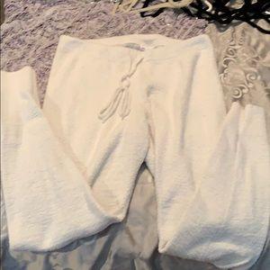 White fuzzy leggings